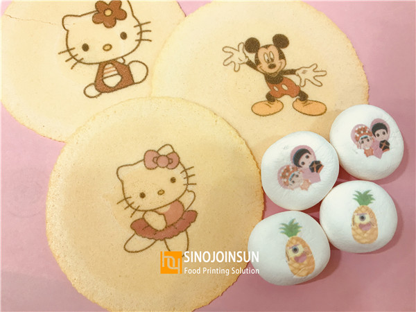 print cookie and marshmallow (sinojoinsun edible ink)
