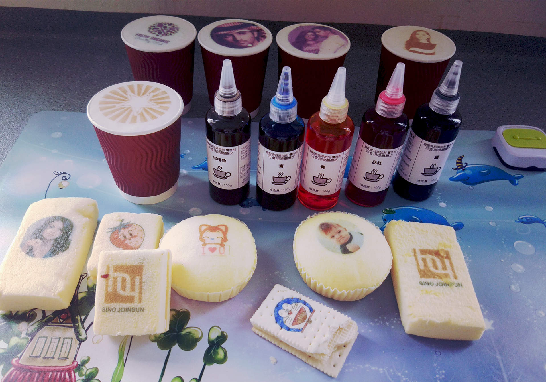Safe Edible Inkjet Ink for Cake & Coffee Printing