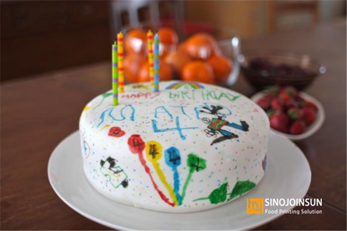 sinojoinsun edible pen draw fondant cake
