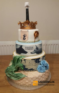 game of thrones themed cake with Sinojoinsun edible ink-_副本