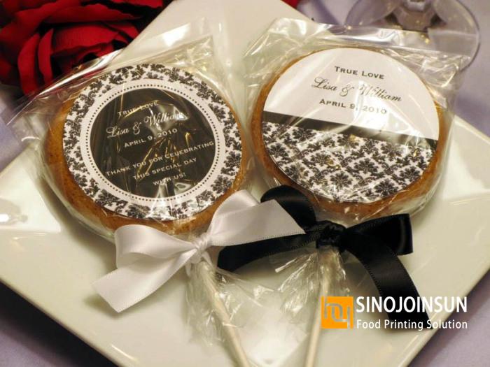 Wedding cookies printed food grade edible ink; Sinojoinsun™ Food printer_副本