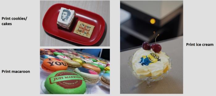 sinojoinsun coffee printer print ice cream, cookie, cake