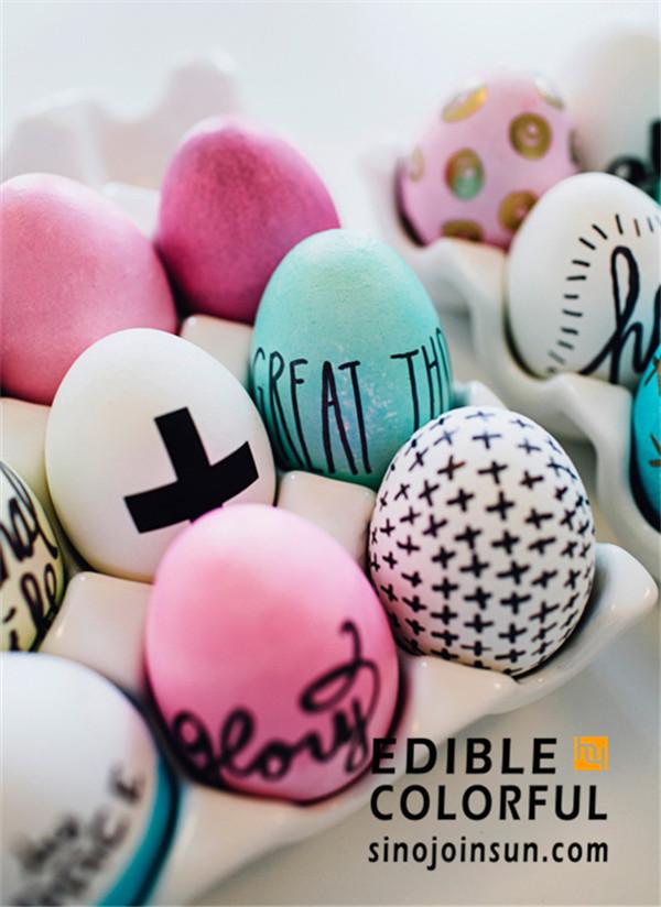 edible marker easter eggs